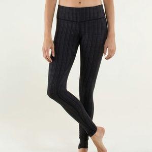Lulu Dupes - Zigzag Black & Gray/Purple Leggings